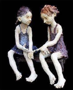 Jurga Sculptures | JURGA -Sur le banc
