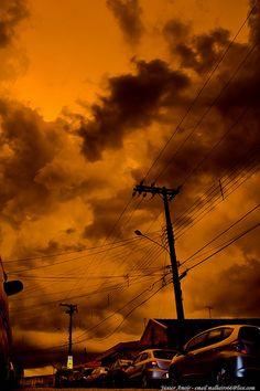Céu inventado...O céu é laranja/Sky invented ... The sky is orange