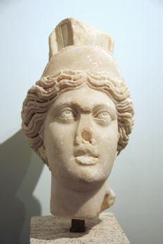 Archaeological Museum in Milan, (Italy), vaults. Ancient Roman busts. Head of a Roman copy after the Antiochia Tyche, 2nd century AD. Picture by Giovanni Dall'Orto, March 13 2012.