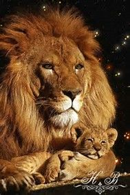 Lion Cub and Dad Tattoos