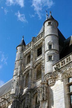 Escalier Renaissance du Château de Châteaudun, Centre, France