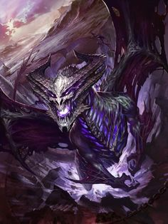 Black and purple shadow dragon Mythical Creatures Art, Magical Creatures, Dark Fantasy Art, Fantasy Artwork, Dungeons And Dragons, Arte Assassins Creed, Mythical Dragons, Shadow Dragon, Cool Dragons