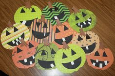 The kids made the cutest Jack-O-Lanterns last week. We did a glyph. I made some samples and we analyzed them using the glyph. They did a g...