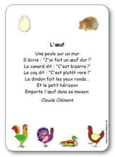 Comptine L'œuf de Claude Clément