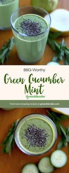 Green Cucumber Mint on Green Blender