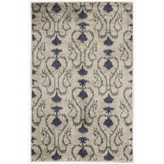 Kindred Damask Silver Area Rug (7'9 x 10') - Overstock™ Shopping - Great Deals on Nourison 7x9 - 10x14 Rugs