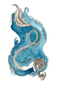 Sadness by Pique Studios Underwater Animals, Mermaid Tears, Merfolk, Sea Creatures, Beautiful Paintings, Psychedelic, Painting & Drawing, Folk Art, Illustration Art
