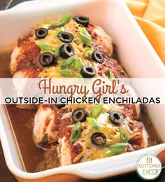 Chicken Enchiladas Shed Their Tortillas in This Hungry Girl 'Obsessed' Recipe - Fit Bottomed Girls Source by robyncosta Hungry Girl Diet, Hungry Girl Recipes, Hungry Hungry, Ww Recipes, Cooking Recipes, Healthy Recipes, Chicken Recipes, Recipe Chicken, Cooking Food