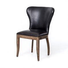 Dine in elegant fashion and plush comfort with the Starford Dining Chair. Handsome design features an alluring modern silhouette, distinctively shaped back, and supple top grain leather upholstery with brass nail head trim detailing along the base. Oak Dining Chairs, Bar Chairs, Side Chairs, Dining Table, Kitchen Chairs, Lounge Chairs, Outdoor Dining, Weathered Oak, Chair Upholstery