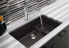 Évier de cuisine sous-comptoir Precis Cascade - Évier en granite - Plomberie Mascouche