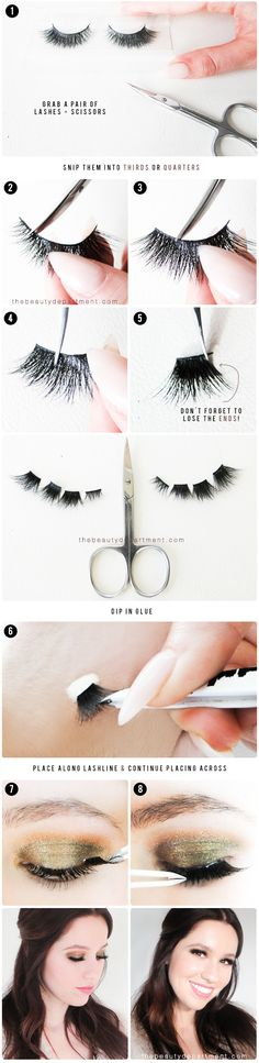 Makeup Tutorial For Beginners False Lashes The Beauty Department Ideas Beauty Make-up, Beauty Hacks, Hair Beauty, The Beauty Department, Fake Eyelashes, False Lashes, Eyelash Enhancer, Eyelash Kit, Eyelash Curler