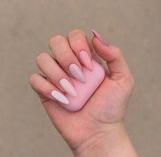 New acrylic pastel nails almond ideas Summer Acrylic Nails, Best Acrylic Nails, Pastel Nails, Mauve Nails, Glitter Nails, Summer Nails, Oval Nails, My Nails, Basic Nails