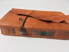 caramel leather journal, small goatskin journal with mixed-media art papers, nature journal, small leather blank book by SlowArtStudio on Etsy https://www.etsy.com/listing/507972559/caramel-leather-journal-small-goatskin