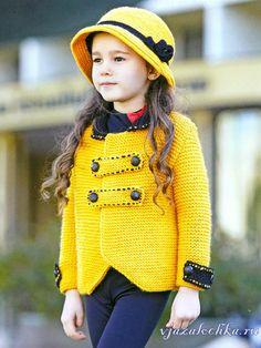 Солнечный кардиган для девочки спицами Poncho Sweater, Crochet Cardigan, Knit Crochet, Crochet For Kids, Baby Hands, Crochet Clothes, Girly Girl, Baby Knitting, Crochet Hooks