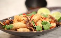 Salt and Pepper Squid Recipe by Andy Bates : Food Network UK