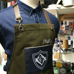 Custom made barber apron #apron #barber apron #barber #cuatommade #handcrafted…