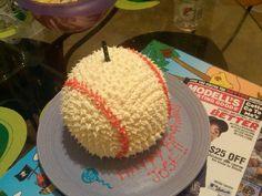 baseball bday cake