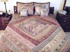 Zari 7P Sari Indian Quilt Coverlet Bedding Bed Cover | NovaHaat.com
