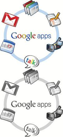 Google apps is de tegenhanger van Office 365. Daar waar Office 365 haar office suite, Lync als communicatie tool en SharePoint als samenwerkingstool neerzet, antwoord Google met de verschillende apps als Google Docs, Gmail Agenda Sites enz.