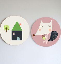 Image of ¡Nuevos! Cuadros infantiles Rurú o casita- new wall art