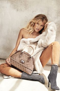 guess accessories 2014 fall winter campaign2 Samantha Hoopes Turns Up the Glam for Guess Accessories Fall Ads
