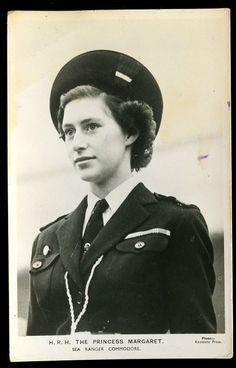 Royalty HRH PRINCESS MARGARET early RP PPC in Sea Ranger uniform  girl guide  britain
