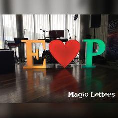 wedding decorations, letters, led, heart, light