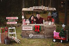 Hot Cocoa Stand Cuteness House of Hargrove Christmas Christmas Tree Farm, Christmas Minis, Outdoor Christmas, Christmas Time, Christmas Cards, Christmas Decorations, Merry Christmas, Photography Mini Sessions, Christmas Photography