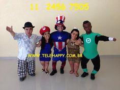 Ação e interatividade  com muito humor e dinamismo. Animação com respeito com todos os seus convidados e com muita alegria. Shows á partir de R$150,00. Orçamento (11)2456 7505 WhatsApp (11)98128 3436 e-mail: animadoresdefesta@hotmail.com site: www.telehappy.com.br