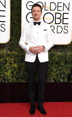 Jeremy Renner from 2017 Golden Globes Red Carpet