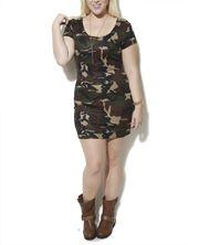 Camo Stud Bodycon Dress