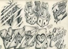traditional black and grey tattoo flash - Google Search