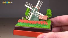 How to make a Miniature Paper Craft - Tulips and Windmill. Sankei Miniatuart mini - Tulips and Windmill Non Scale Miniatuart kit is a paper craft relatively ...