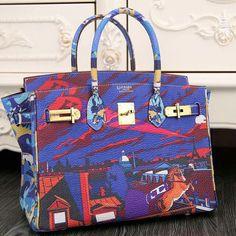 Hermès - Birkin bag - carré Minuit au Faubourg by Dimitri Rybaltchenko