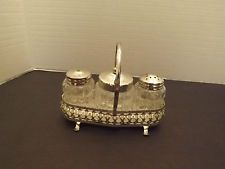 3 Piece Cruet Set- English made -  Possibly Mayell Queen Anne