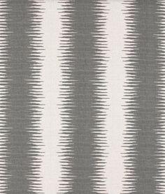 Premier Prints Jiri Nova Birch Fabric - $12.98 | onlinefabricstore.net #gray #ikat #decor