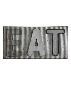 Metal Industrial EAT Sign Wall by Laurel Foundry Modern Farmhouse Rustic Wall Art, Unique Wall Art, Farmhouse Wall Decor, Rustic Walls, Metal Wall Decor, Wall Art Decor, Modern Farmhouse, Industrial Wall Art, Farmhouse Style