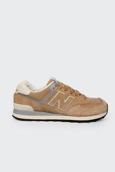 New Balance, Suede 574, tan/cream http://www.goodasgold.co.nz/collections/new-balance