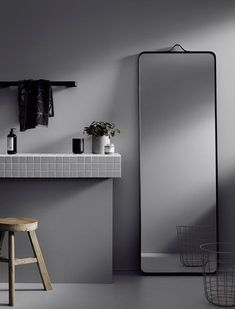 Norm floor mirror by Norm Architects for Menu A/S bathroom inspiration