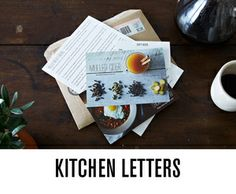 Kitchen letters - recipes from chefs