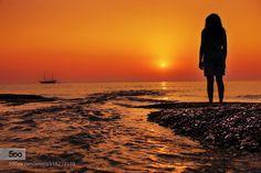Sunrise Watcher - Pinned by Mak Khalaf Landscapes beachbeautifulmediterraneanmorningorangeriverseascapeskysunsunrisetravel by sezginayvaz