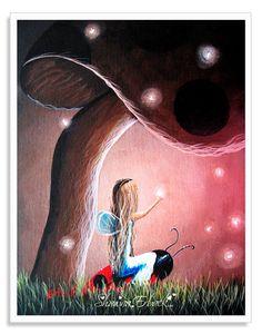 Enchanted Evening - Fairy art prints by Shawna Erback Fairy Paintings, Fantasy Paintings, Paintings I Love, Fantasy Art, Enchanted Evening, Animal Patterns, Angel Art, Fairy Land, Heart Art