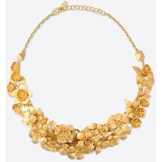 Valentino Garavani brass necklace <br>- Mat gold-finish brass <br>- Brass flowers entirely made and assembled by hand <br>- Adjustable clasp closure <br>- Made in Italy Women Gold Jewelry Simple, Jewelry For Her, Gold Jhumka Earrings, Gold Necklace, Jewelry Necklaces, Gold Earrings For Women, Bridal Jewelry, Flower Jewelry, Flower Necklace