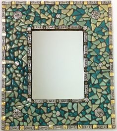 beaded mosaic mirror project