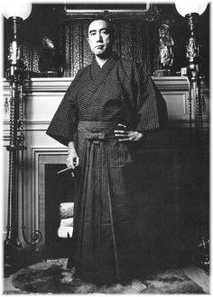 Yukio Mishima at home