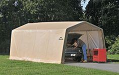 ShelterLogic Instant Car Garage Kit Portable Pop Up Carport Garages 62680 Car Canopy, Carport Canopy, Carport Garage, Garage Kits, Patio Canopy, Instant Garage, Portable Carport, Car Shelter, Pony Wall