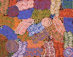 """""""Awelye & Bush Melon"""" by Betty Mbitjana 90cm x 71cm SOLD"""