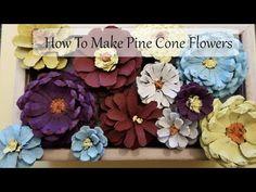 White Pine Cone, Pine Cone Art, Pine Cone Crafts, Painting Pine Cones, Paper Flowers Diy, Flower Crafts, Thanksgiving, Pine Cones For Sale, Pine Cone Flower Wreath