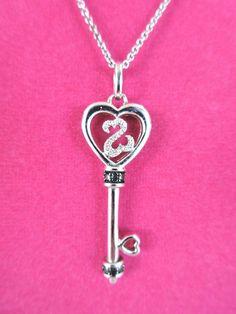77c5b4380 Jane Seymour JWBR Sterling Silver OPEN HEART KEY Pendant Necklace # JaneSeymour #Pendant Jane Seymour