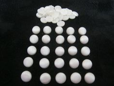 50 Stück Blusenknöpfe mit Öse,Pilzkopf,Silberweiß,Durchmesser ca.13 mm,Neu,Lübecker Knopfmanufaktur von Knopfshop auf Etsy